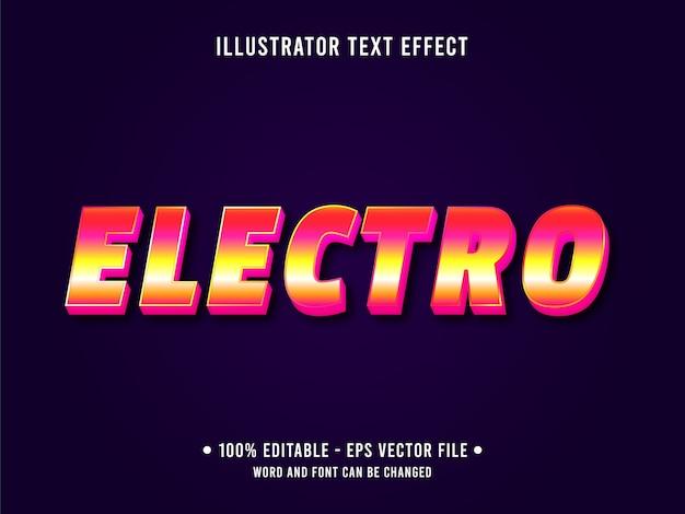 Elektro bearbeitbarer texteffekt retro-stil