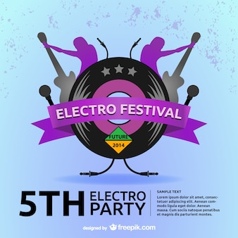 Elektro retro-musik grond