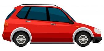 Elektroauto auf weißem Hintergrund