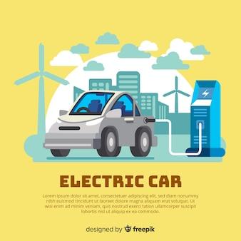 Elektroauto-hintergrundvorlage