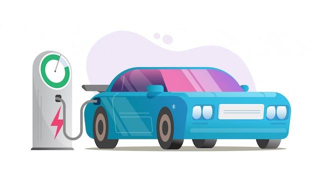 Elektroauto-ladestationsvektor oder ladesystem für elektrofahrzeugautomobil