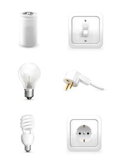 Elektrogerät, elektrische lampe, elektrische batterie, energiesparlampe