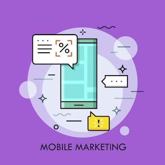 Elektronische ansage, mobiles marketing und targeting