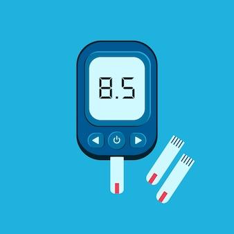 Elektronische glukometerillustration