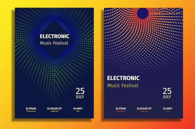 Elektronische musik party poster