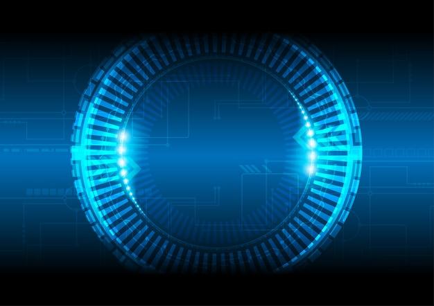 Elektronische phase, technologievektorkonzept.