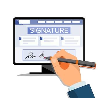 Elektronische unterschrift