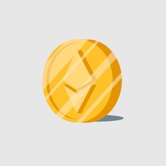 Elektronischer bargeldsymbolvektor ethereum cryptocurrency