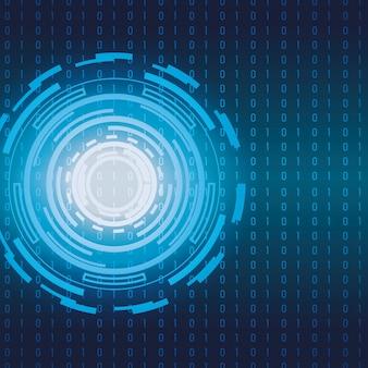 Elektronischer futuristischer hintergrund