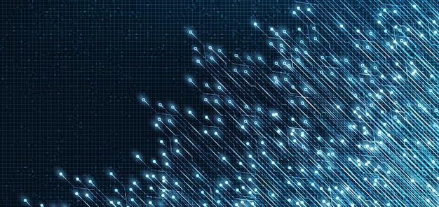 Elektronischer lichtstrom-mikrochip-technologiehintergrund