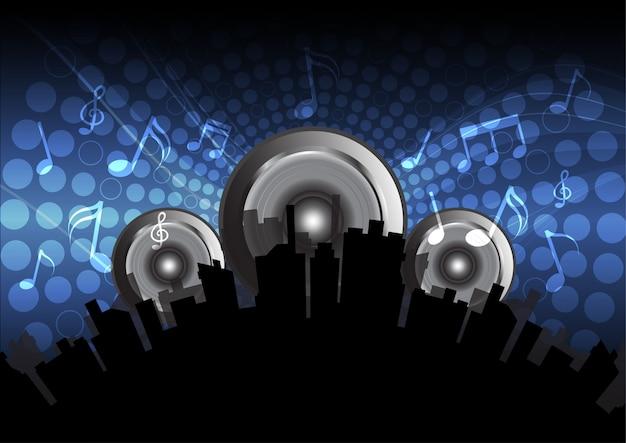 Elektronischer musikhintergrund