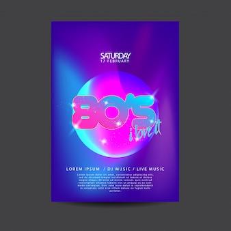 Elektronischer tanzmusik-flyer