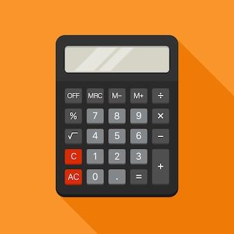 Elektronischer taschenrechner im flachen stil. vektor-illustration