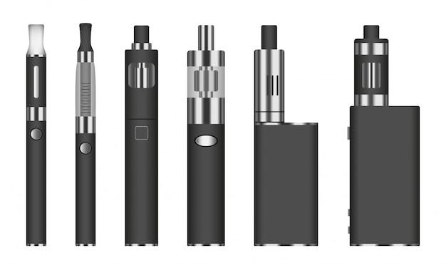 Elektronischer zigarettenikonensatz, realistische art