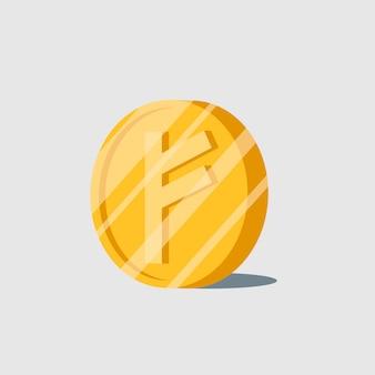 Elektronisches bargeld-symbol der auroracoin-kryptowährung