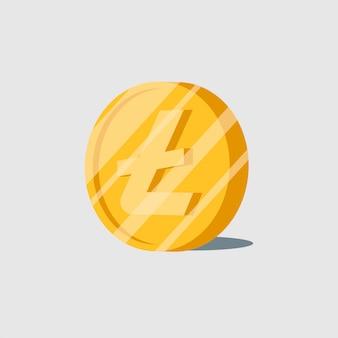 Elektronisches bargeldsymbol der litecoin-kryptowährung