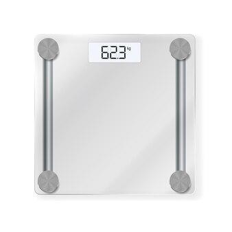Elektronisches bodenwaagen-symbol zum messen des menschlichen gewichts