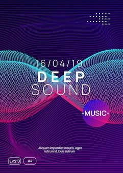 Elektronisches fest. dynamische verlaufsform und -linie. abstrakte show-banner-vorlage. neon-elektronischer festflyer. electro-dance-musik. trance-sound. plakat zur vereinsveranstaltung. techno-dj-party.