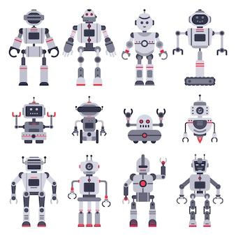 Elektronisches roboterspielzeug, niedliches chatbot-maskottchen und roboterspielzeugcharaktere eingestellt