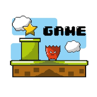 Elektronisches videospiel mit grafikdesign