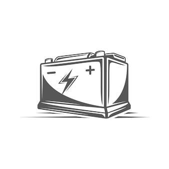 Element des autoservices. batterie isoliert.