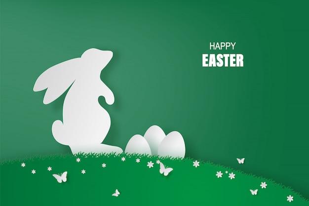 Element minimal holiday bunny für happy easter day eier