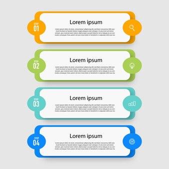 Elementdiagramm schritte zeitachse infografiken designvorlage