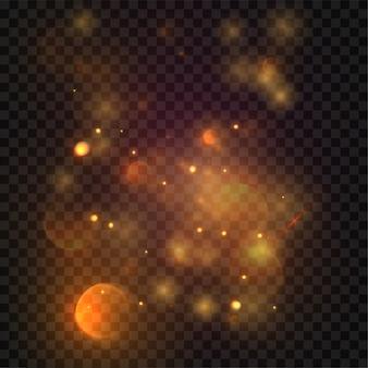 Elemente der goldenen sterne können als spezialeffekte auf transparentem hintergrund, 3d-illustration verwendet werden