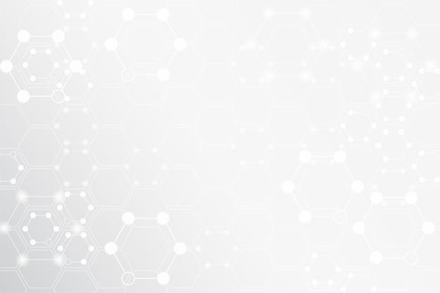 Elemente der molekularen masche auf grau