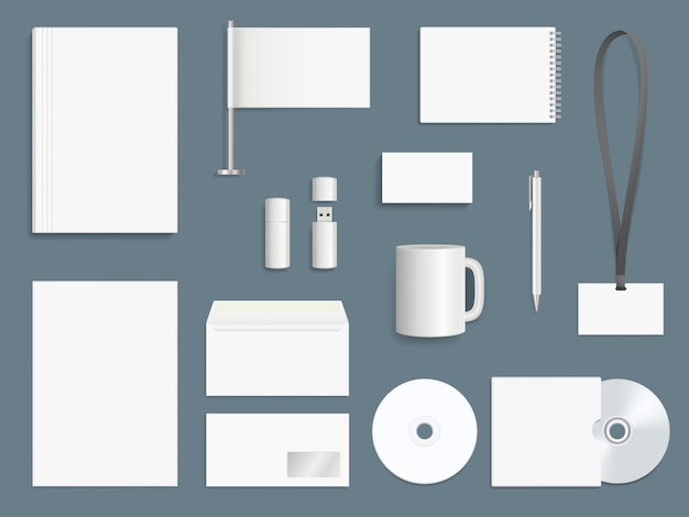 Elemente der unternehmensidentität. geschäftsausstattung sammlung branding symbole vektor-design-vorlage