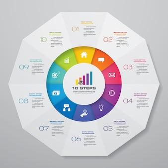 Elemente der zyklusdiagramm-infografiken.