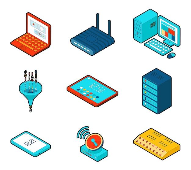 Elemente des cloud-computing-netzwerks.