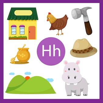 Elemente des h-alphabets für kinder