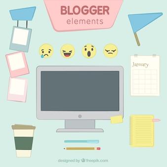 Elemente eines blog