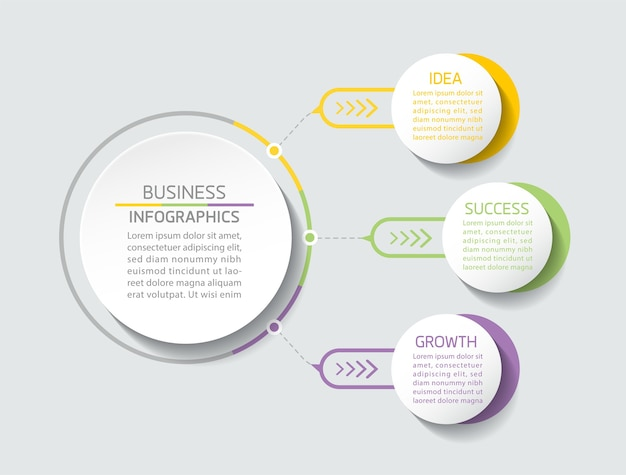 Elemente für die präsentation von infografiken und diagrammschritte oder prozessoptionen nummerieren die schritte der workflowvorlage