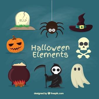 Elemente für eine gruselige halloween
