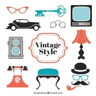 Elemente im vintage-stil