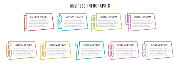 Elemente infografik vorlage 9 optionen