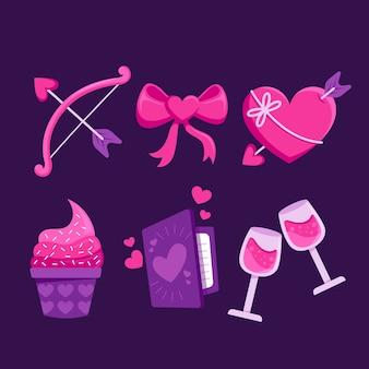 Elementsammlung für valentinstag