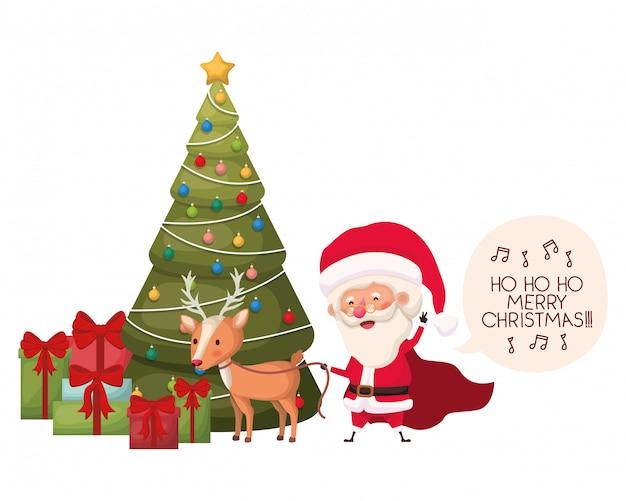 Elf mit weihnachtsbaum-avatar-charakter