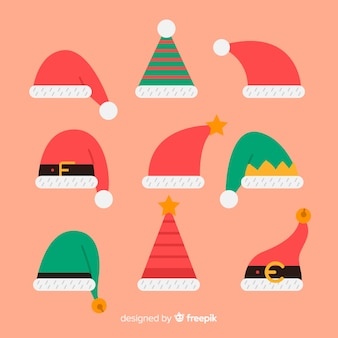 Elf santas hüte packen