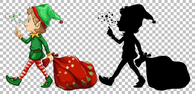 Elf und seine silhouette