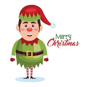 Elf weihnachten charakter symbol