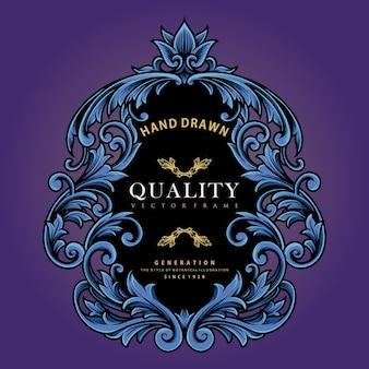 Ellegant shield ornaments emblem vektorillustrationen für ihre arbeit logo, maskottchen-waren-t-shirt, aufkleber und etikettendesigns, poster, grußkarten, werbeunternehmen oder marken.