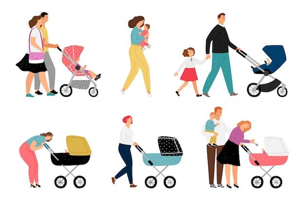 Eltern mit kindercharakteren