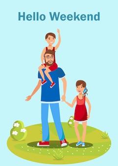Elternkurs-flieger, broschüren-vektor-konzept
