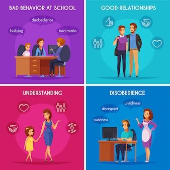 Elternschafts-fall-konzept des entwurfes