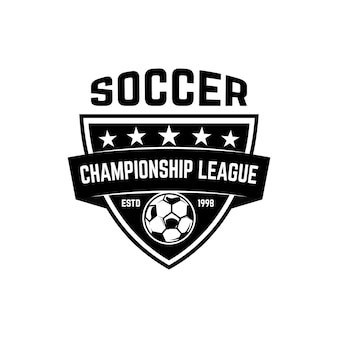 Emblem des fußballvereins. gestaltungselement für logo, label, schild, poster.