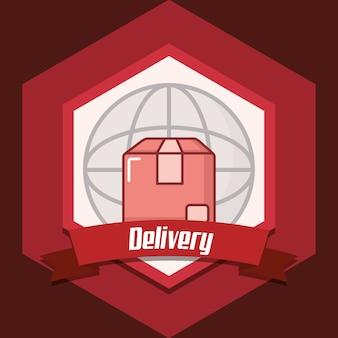 Emblem des lieferungsentwurfs