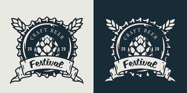 Emblem des metallkorkens von einer bierbrauereiflasche